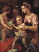Andrea del Sarto Holy family and younger John oil painting picture wholesale